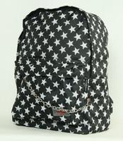 Star black-white L stars rucksack