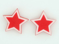 C star red colorful stud