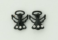 C angel black colorful stud