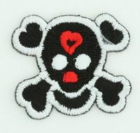 S skull black medium patch
