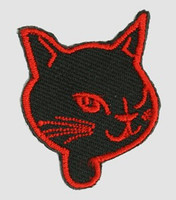 S cat head black-red