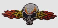 S skull fire H medium patch