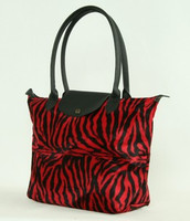 Zebra red design bag