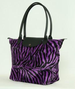 Zebra purple design bag