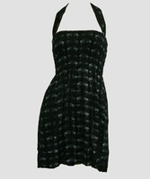 Front EB swallow black-grey elastic dress