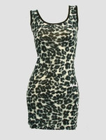 Front - S 4 lines leopard grey sexy dress