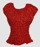 Front - Top elastic star big small red top elastic top