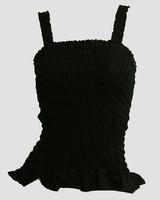 Front - E black plain top elastic top