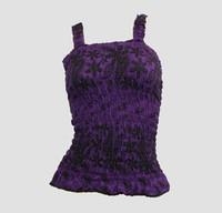 Front - E punk flower purple top elastic top