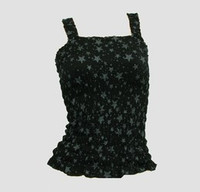 Front - E stars black-grey top elastic top