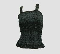 Front - E punk flower black-grey top elastic top