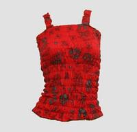 Front - E diva red top elastic top