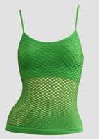Front - Small green top net top