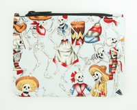 Skeleton blue special cosmetic bag