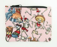 Skeleton pink special cosmetic bag