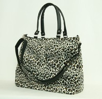 Leopard brown fashion fluffy bag