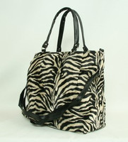 Zebra L brown fashion fluffy bag