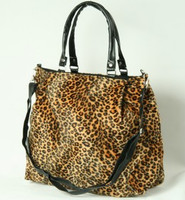Leopard orange fashion fluffy bag