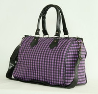 L check purple large bowling bag