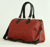Check red large bowling bag