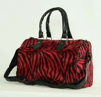 Zebra red large bowling bag