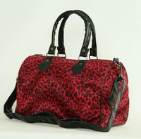 Leopard red large bowling bag