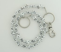 Dice SM white WC 4 wallet chain