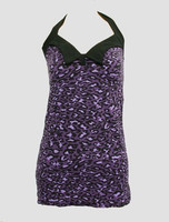 Front - LO leopard purple long top pin up