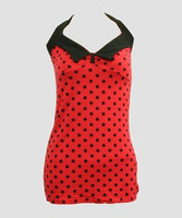 Front - LO dot L red long top pin up
