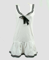 Front - Dress u white sailor dress