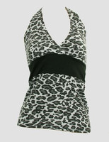Front - BA leopard grey band top pin up