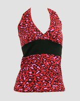 Front - BA leopard red band top pin up