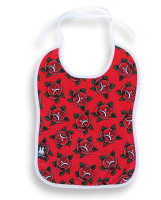 SB roses red six bunnies bib
