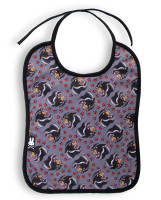 SB tattoo panther six bunnies bib
