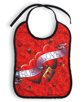 SB true love heart six bunnies bib
