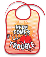 SB trouble six bunnies bib