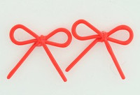 C bow thin red colorful stud