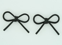 C bow thin black colorful stud