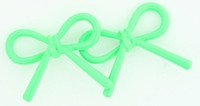 C bow thick green colorful stud