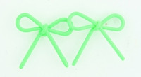 C bow thin green colorful stud