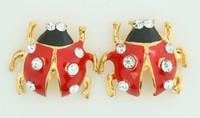 S ladybug red stone stud