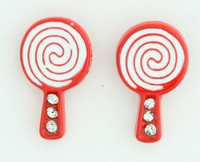 C lolly S red colorful stud