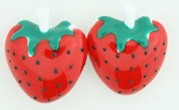 C Strawberry Red Colorful Stud