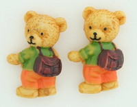 C bear bag orange colorful stud