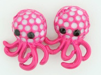 C octopus d-pink colorful stud