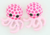 C octopus L-pink colorful stud
