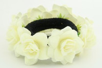 F cream flower universal hair tie and bracelet