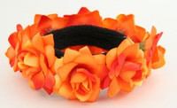 F orange flower universal hair tie and bracelet
