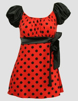 Front - S long red-black classic top pin up