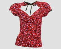 Front - OIF leopard red classic top pin up